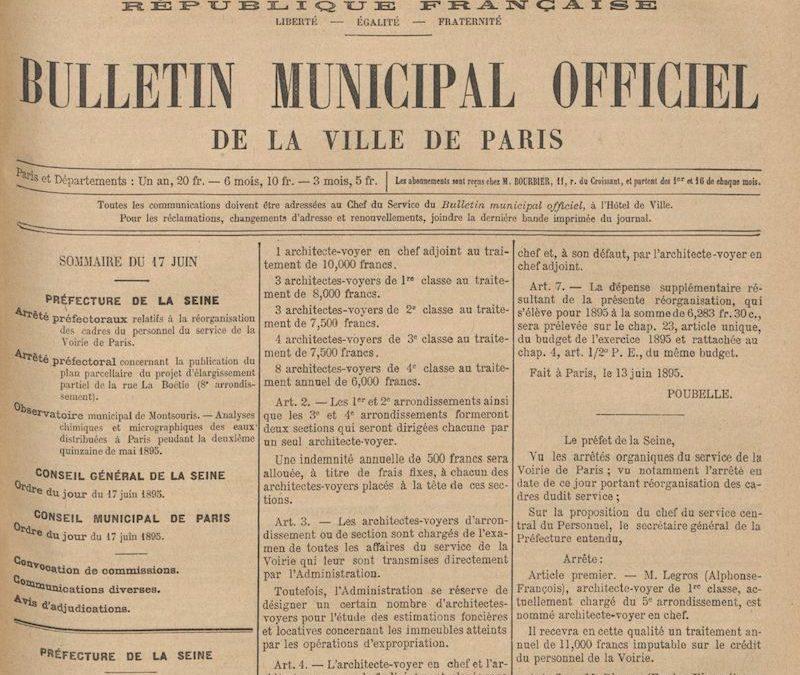 Liste des architectes-voyers de 1898 à nos jours