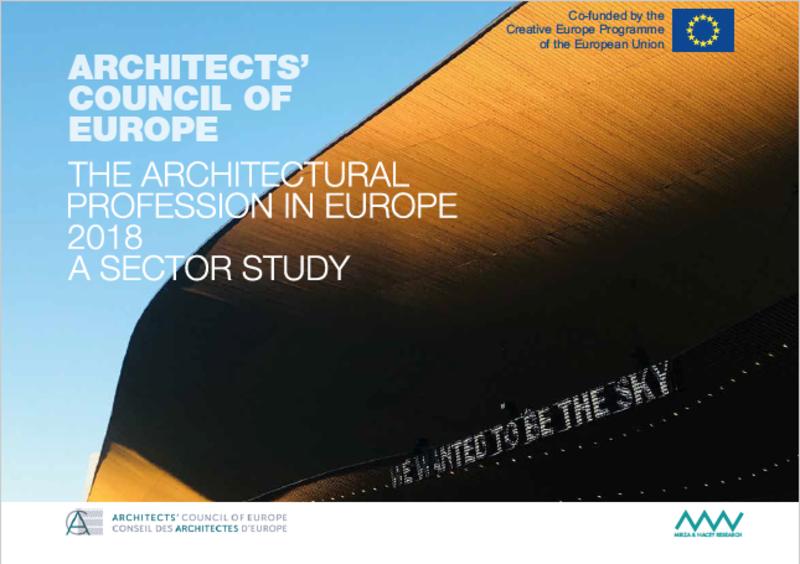 La profession d'architecte en Europe 2018